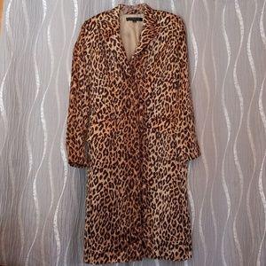 Ann Taylor Long Leopard Jacket